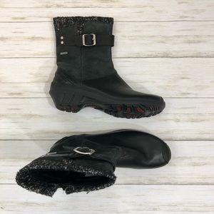 Merrell Waterproof Black Leather Boots 8